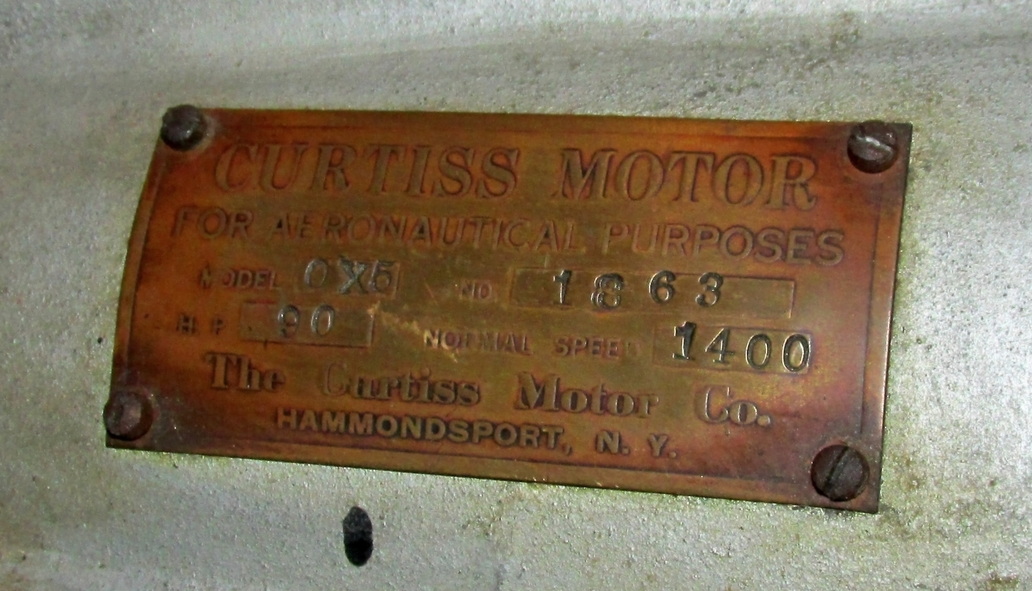 OX5 Engine Plate